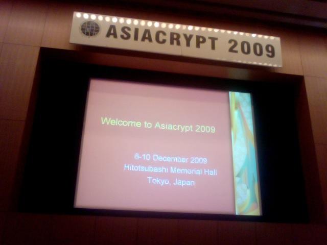 Asiacrypt 2009